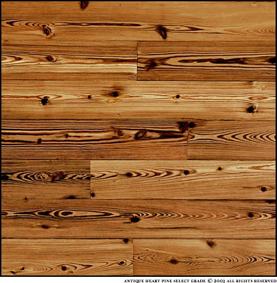 Southfloor Antique Heart Pine Solid Wood Flooring Select