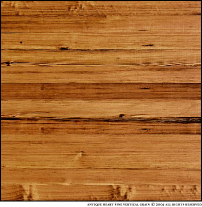 Antique Heart Pine Solid Wood Flooring Vertical Grain