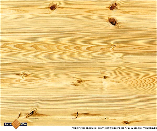 Southern Yellow Pine Wide Plank Is Not Graded For Heart Content But May  Contain Occasional Heart.